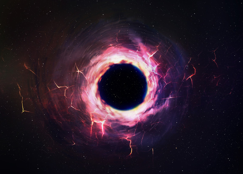Huge Black Hole blasts out a 'double burp'